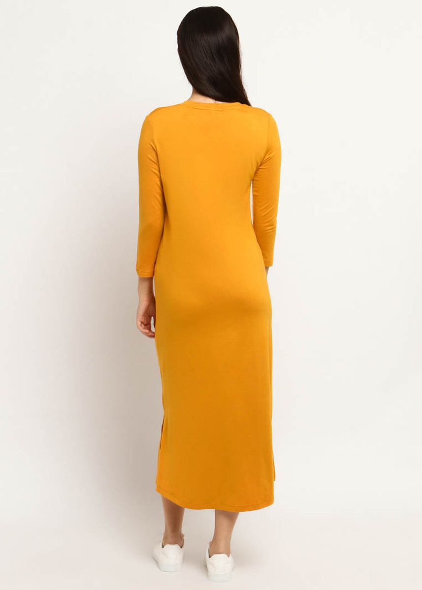 Oranye color Dress Material . Bierry Dress -