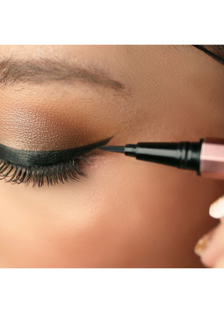 Hitam color Mata . Upmost 2in1 Eyeliner and Serum -
