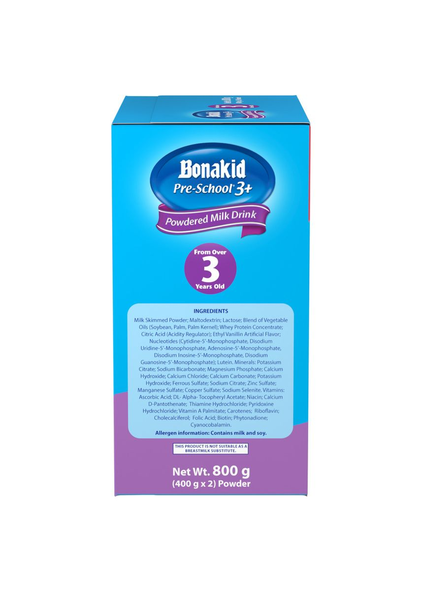 No Color color Milk . Wyeth Bonakid Pre-School 3+ Stage 4 Powdered Milk Drink for Children Over 3 Years Old, 800g Box -