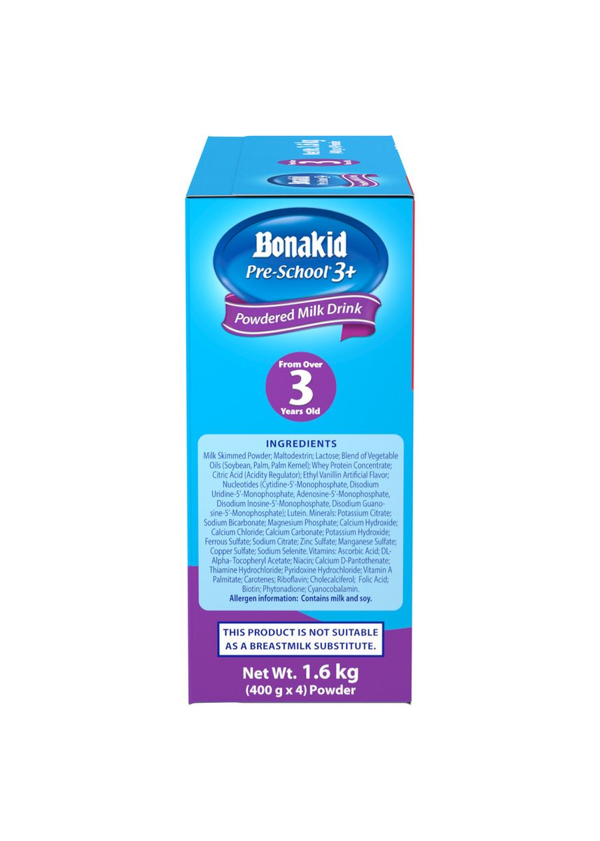 No Color color Milk . Wyeth Bonakid Pre-School 3+ Stage 4 Powdered Milk Drink For Children Over 3 Years Old, 1.6kg Box -