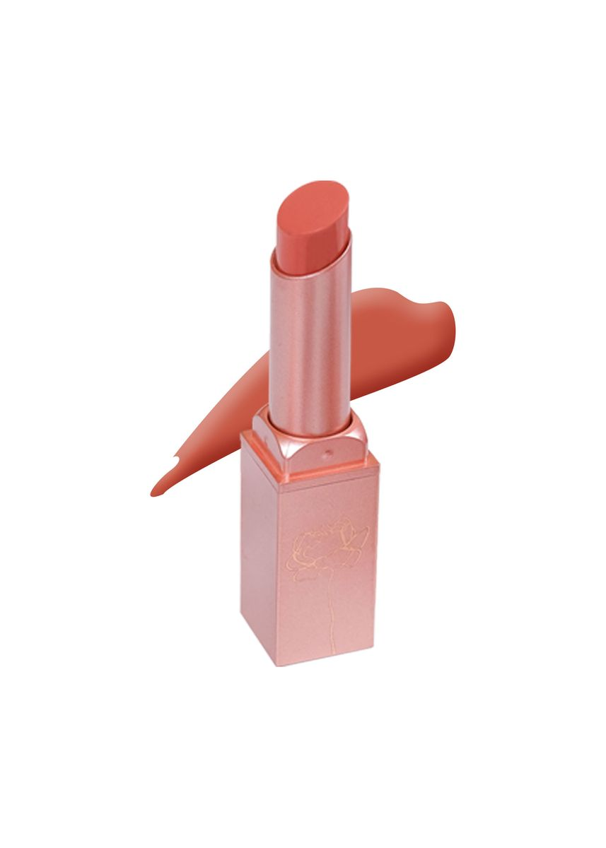 Orange color Lips . Upmost Luminous Velvet Matte Lipstick : Hardcore Terracotta -