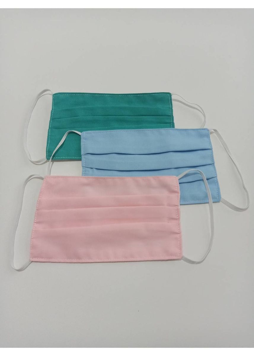 Multi color Masker . Masker Kain 2ply Bisa DiIsi Tissue Earloop MOTIF POLOS (RANDOM WARNA) -