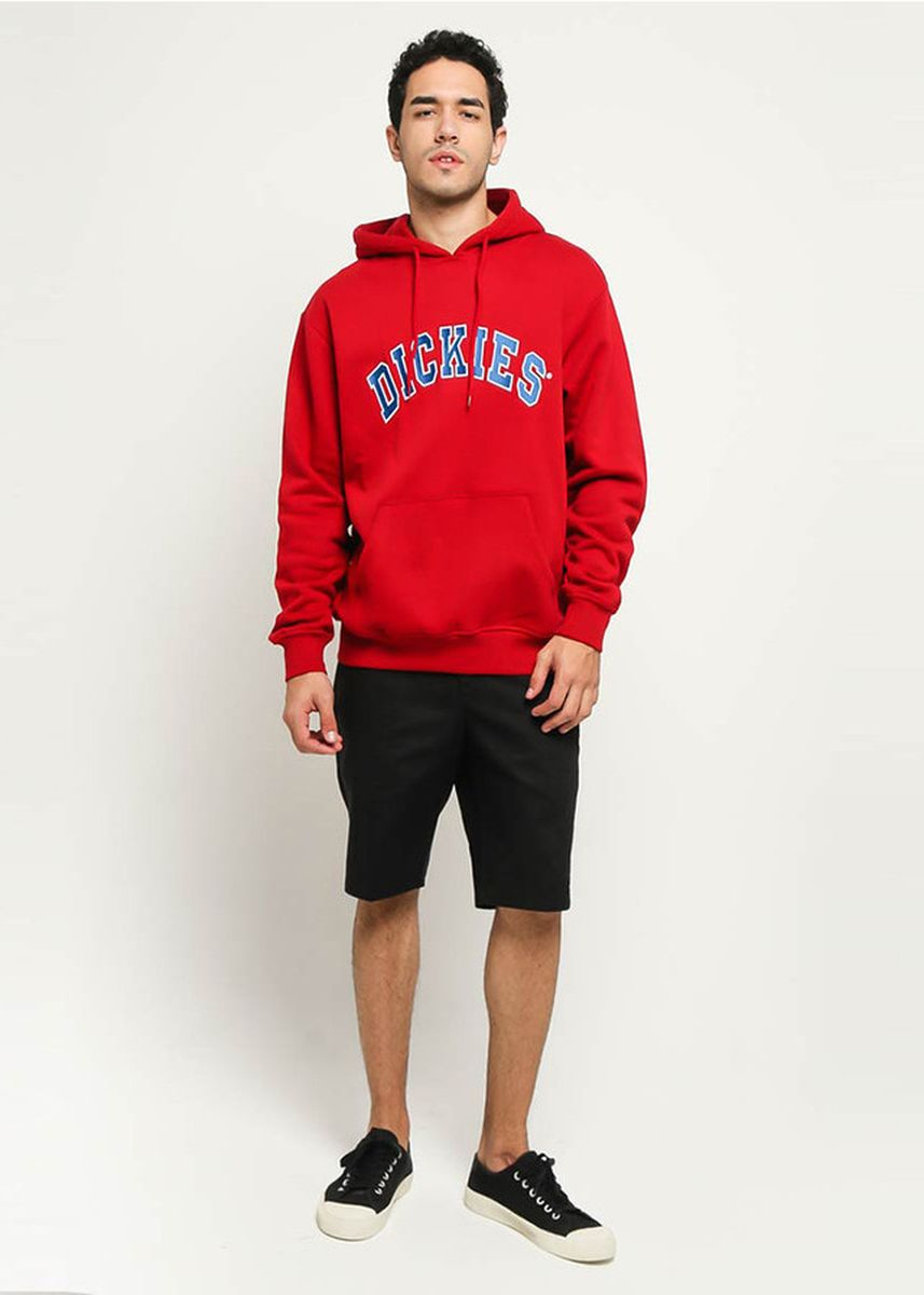 Red color Outerwear . DICKIES-PRINCETON POP OVER HOODY ER -
