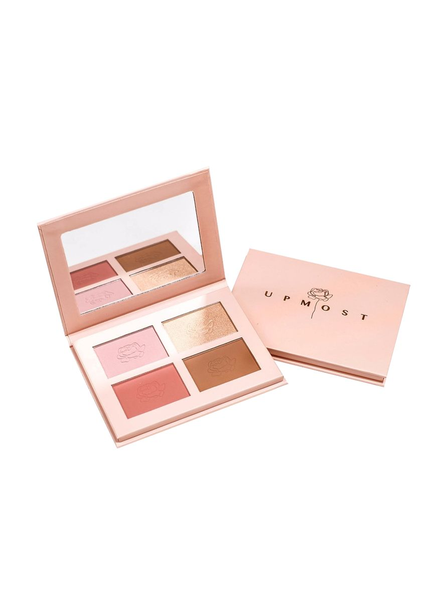 Pink color Set & Palette . Hope bundle (Essential Face Palette + Lip Maximizer Iconic red) -