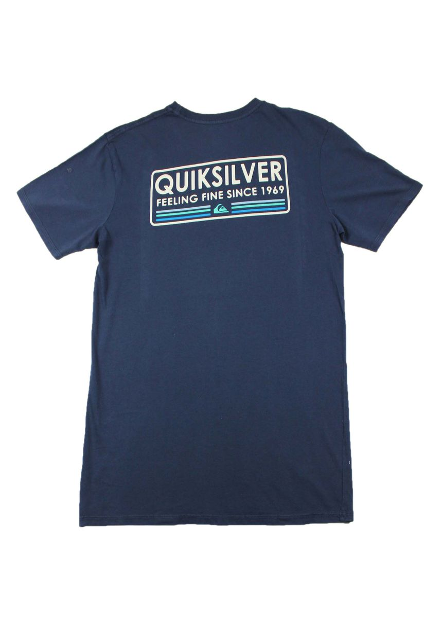 Navy color T-Shirts and Polos . Quiksilver Round Neck T-Shirt -