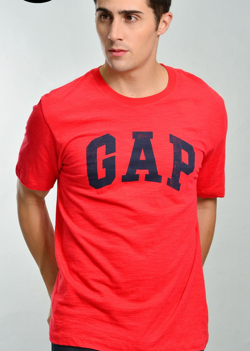 Red color T-Shirts and Polos . Gap Round Neck T-Shirt -