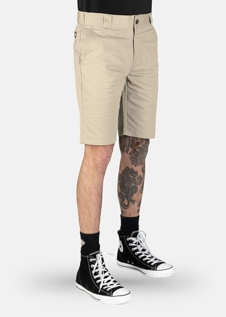 "Khaki color Shorts & 3/4ths . DICKIES-SLIM FIT 10"" SHORT-WR818-DS -"