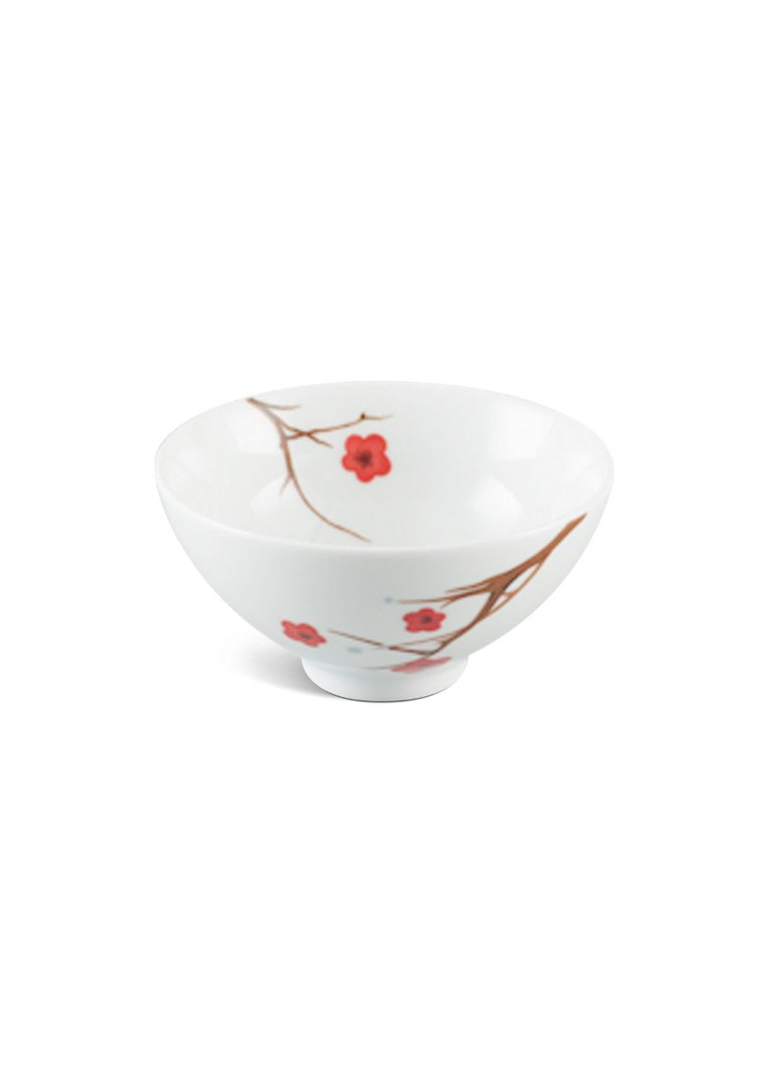 White color Kitchen . Pink Ochna - Rice Bowl (11.5cm) -