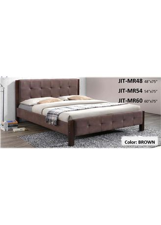 """Brown color Beds . Upholstered Bed Frame: 54"""" x 75"""" (Full Double) -"""