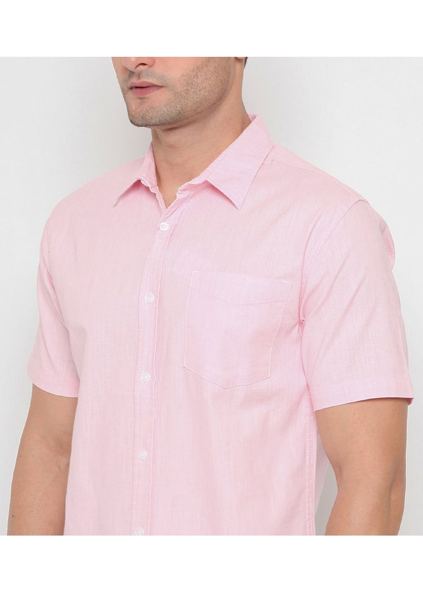 Pink color Casual Shirts . POLICE Kemeja Slim Fit Polos Pria  -
