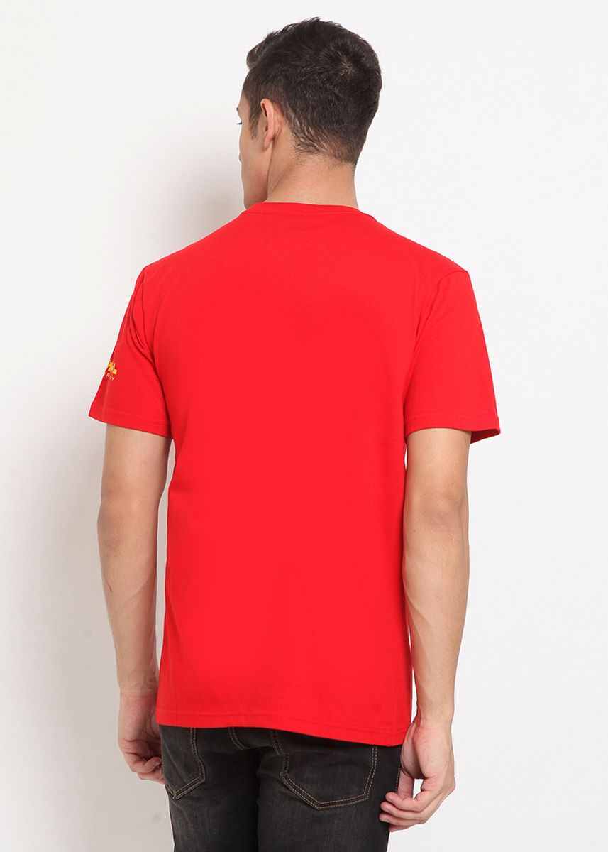 Red color T-Shirts and Polos . XTRAORDINARY Kaos Cotton Combed Pria -
