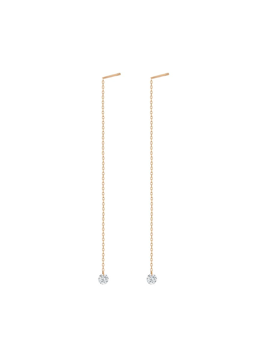 Pink color  . Chloe Diamond Earring -