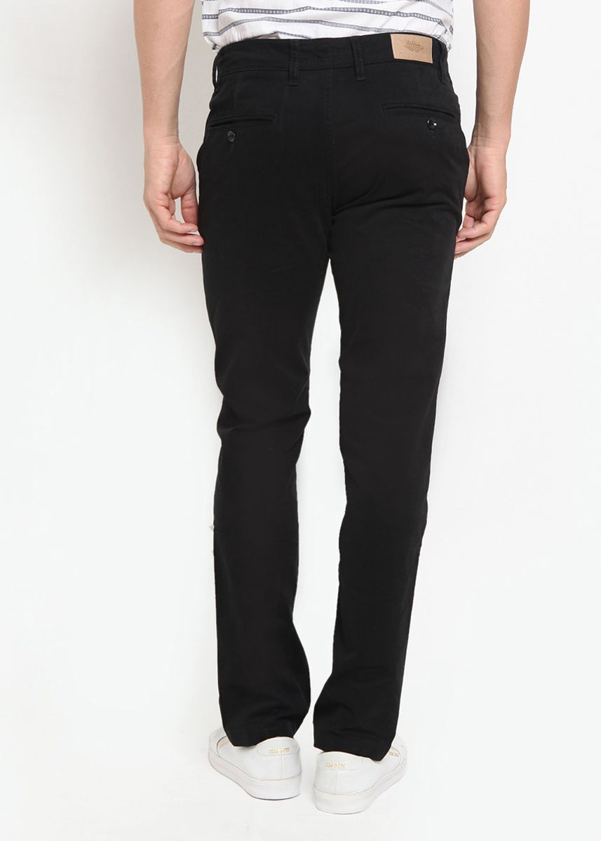 Black color Casual Trousers and Chinos . RBJ Celana Chinos Slim fit Pria -