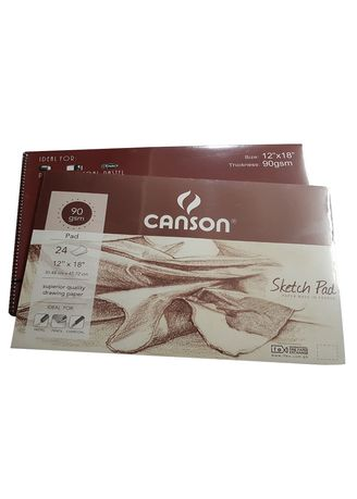 """No Color color Notebooks . Canson Sketch Pad 24 Sheets (12"""" x 18"""") -"""