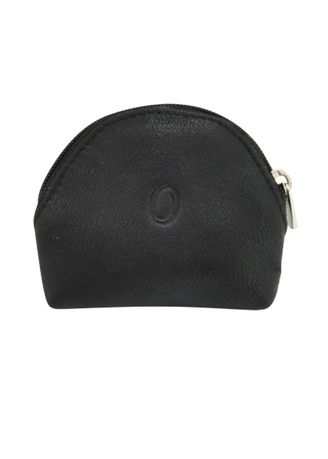 Black color Wallets and Clutches . Oxhide Leather Coin Purse -