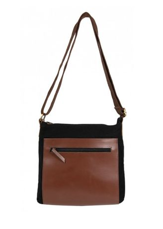 Brown color Sling Bags . Sling Bag Canvas -