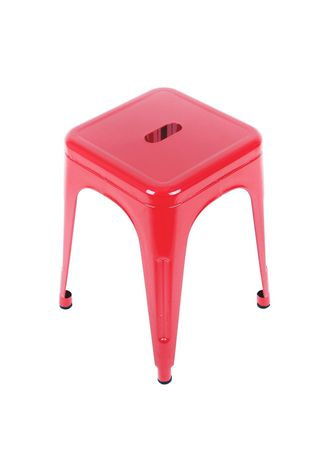 Red color Stool . Qoncept Furniture Metal Stool Chair -