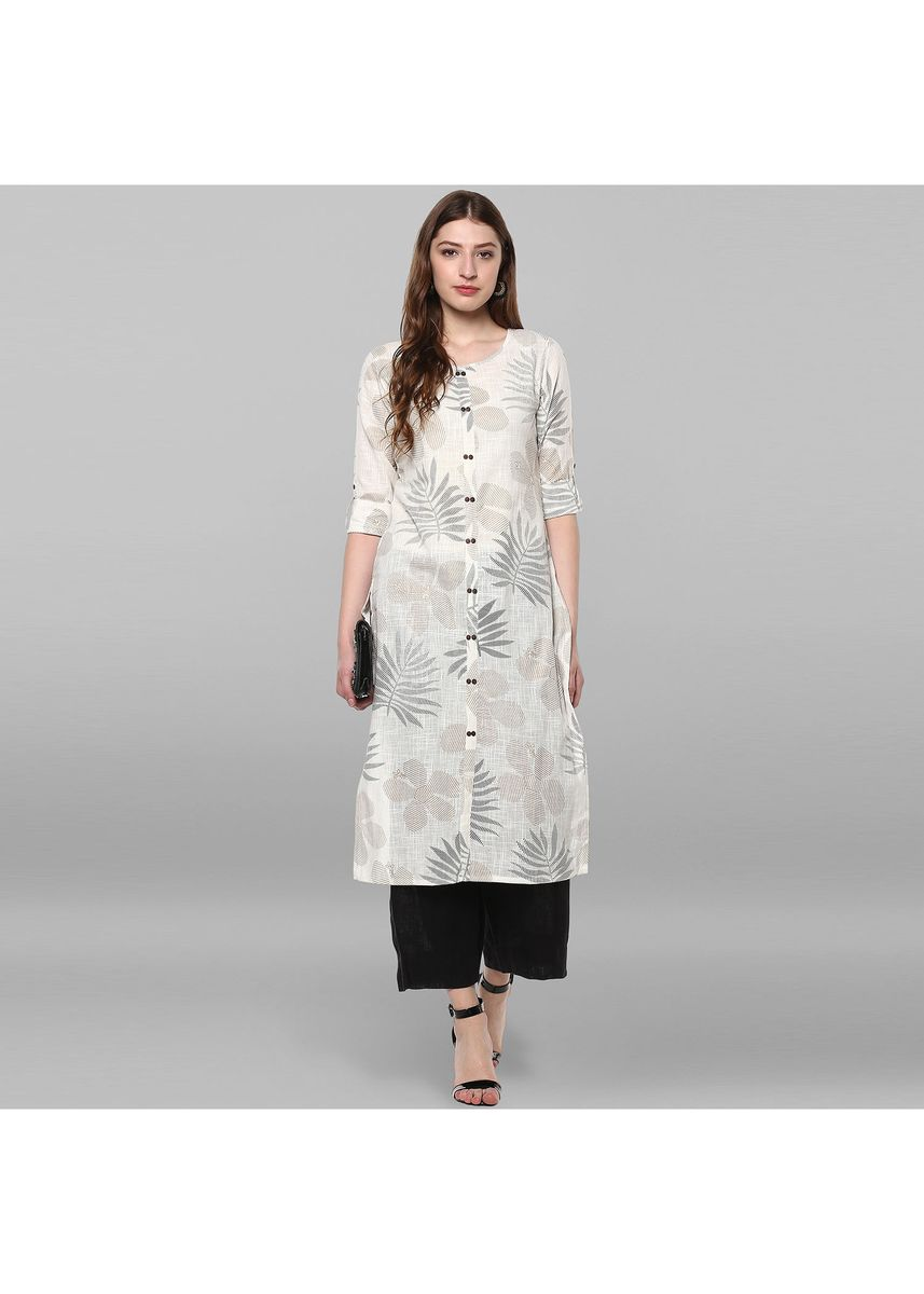 White color Dresses . Janasya Women's Off White Pure Cotton Kurta -