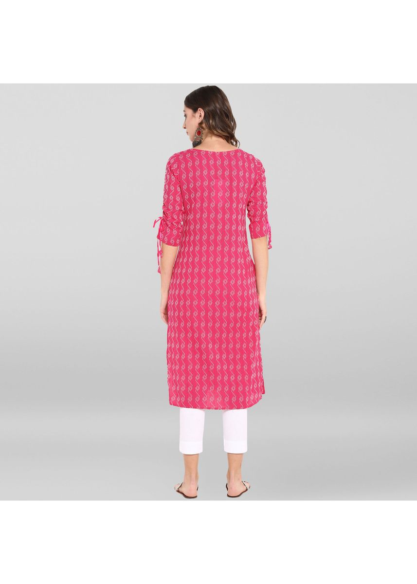 Pink color Dresses . Janasya Women's Pink Pure Cotton Kurta -