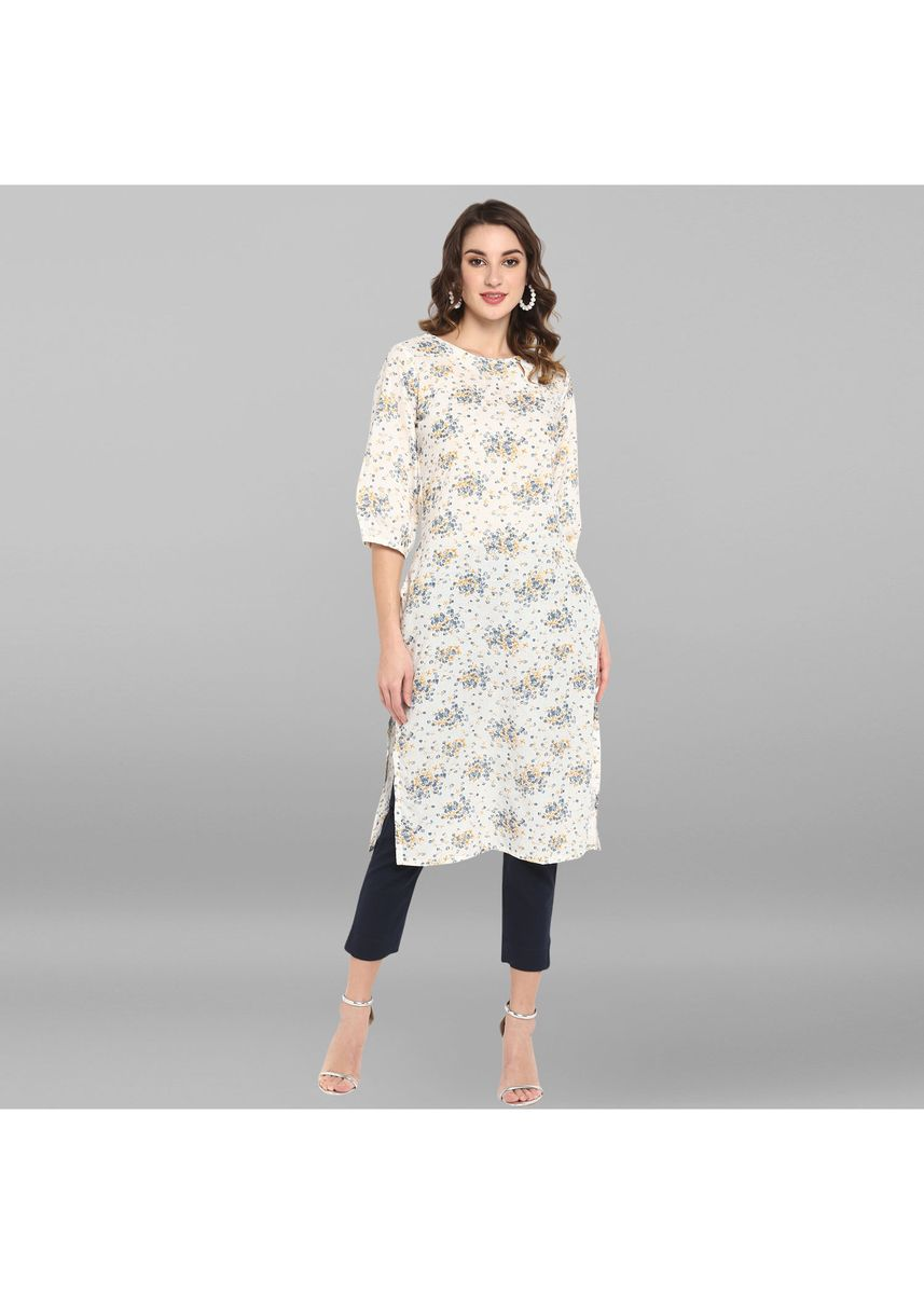 White color Dresses . Janasya Women's White Pure Cotton Kurta -