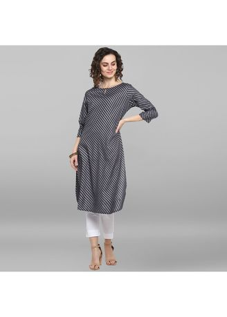 Grey color Dresses . Janasya Women's Grey Rayon Kurta -