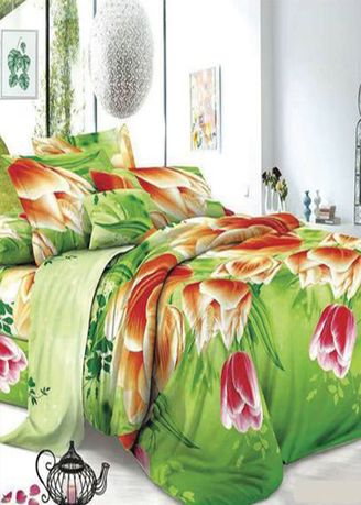 Multi color Bedroom . Celina Home Textiles 3 in 1 Single 36 x75 Cotton Bed Sheet Set Premium Quality BS33 - (3n1 S) -