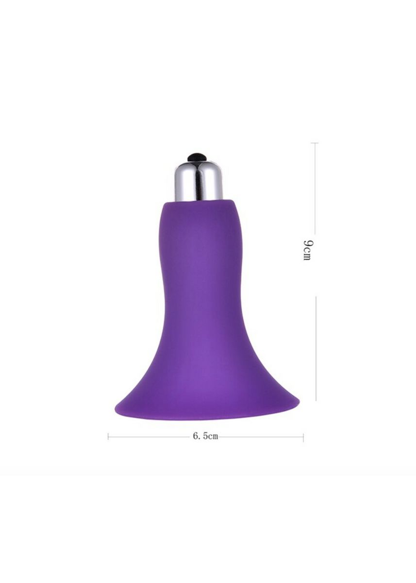 Purple color Sexual Care . Secret Corner Bell Vibrating Silicone Nipple Clitoral Massager Sex Toys for Girls Sex Toys for Women - Purple -