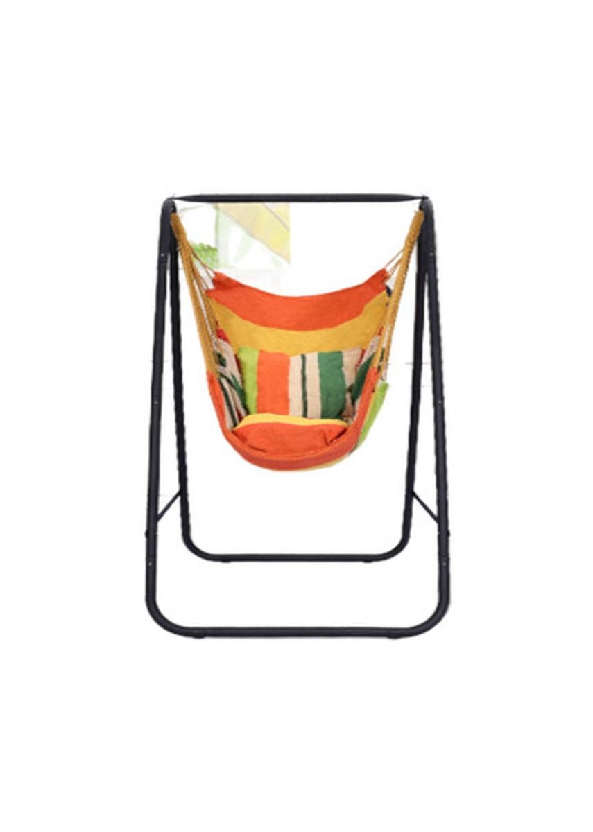 Black color Chairs . Celina Home Textiles Thick Metal Frame Swing Home Rocking Chair Hammock -