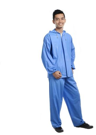 Blue color Jackets . JAS HUJAN SETELAN SUARES -