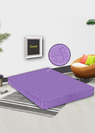 Purple color Bedroom . Monalisa Sarung Kasur Jacquard Emboss UK 120 T 15 - Ungu Muda -