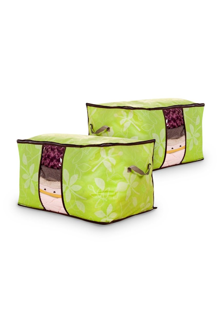 Green color Storage . RADYSA Storage Box Penyimpanan Selimut Flower -