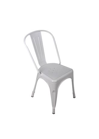 White color Chairs . Qoncept Furniture Steel Chair Series -