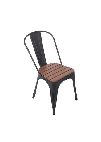 Brown color Chairs . Qoncept Furniture Steel Chair Series -