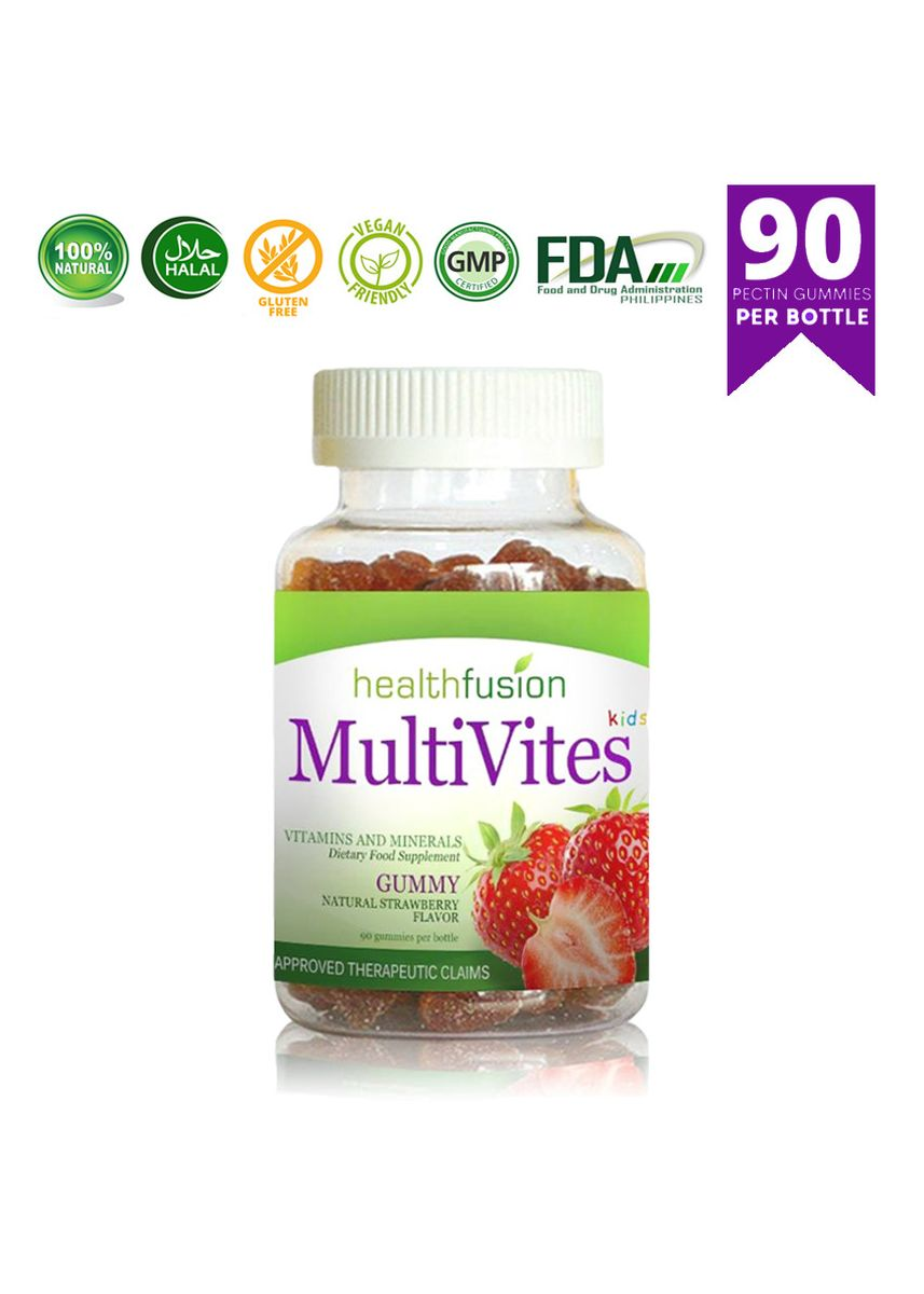 No Color color Health Drinks & Supplements . Health Fusion Gummy Multivites for Adults & Kids (90 gummies) -