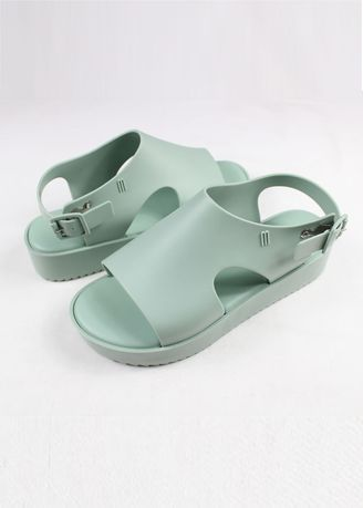 Green color Sandals and Slippers . Melissa Hotness Sandals -