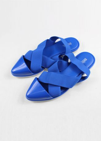 Blue color Sandals and Slippers . Melissa Good Vibes Sandals -