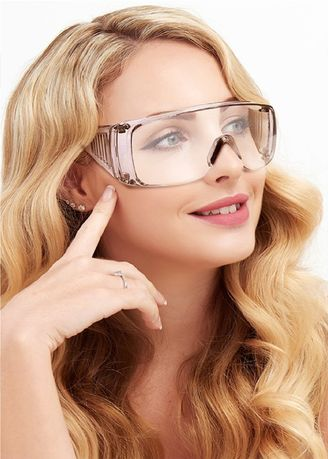 White color Goggles . Protective Goggles/Frameless -