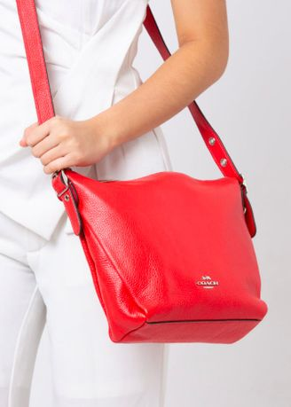 Red color Sling Bags . coach duffle bright red -