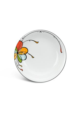 White color Kitchen . Balloon - Deep Soup Plate (23cm) -