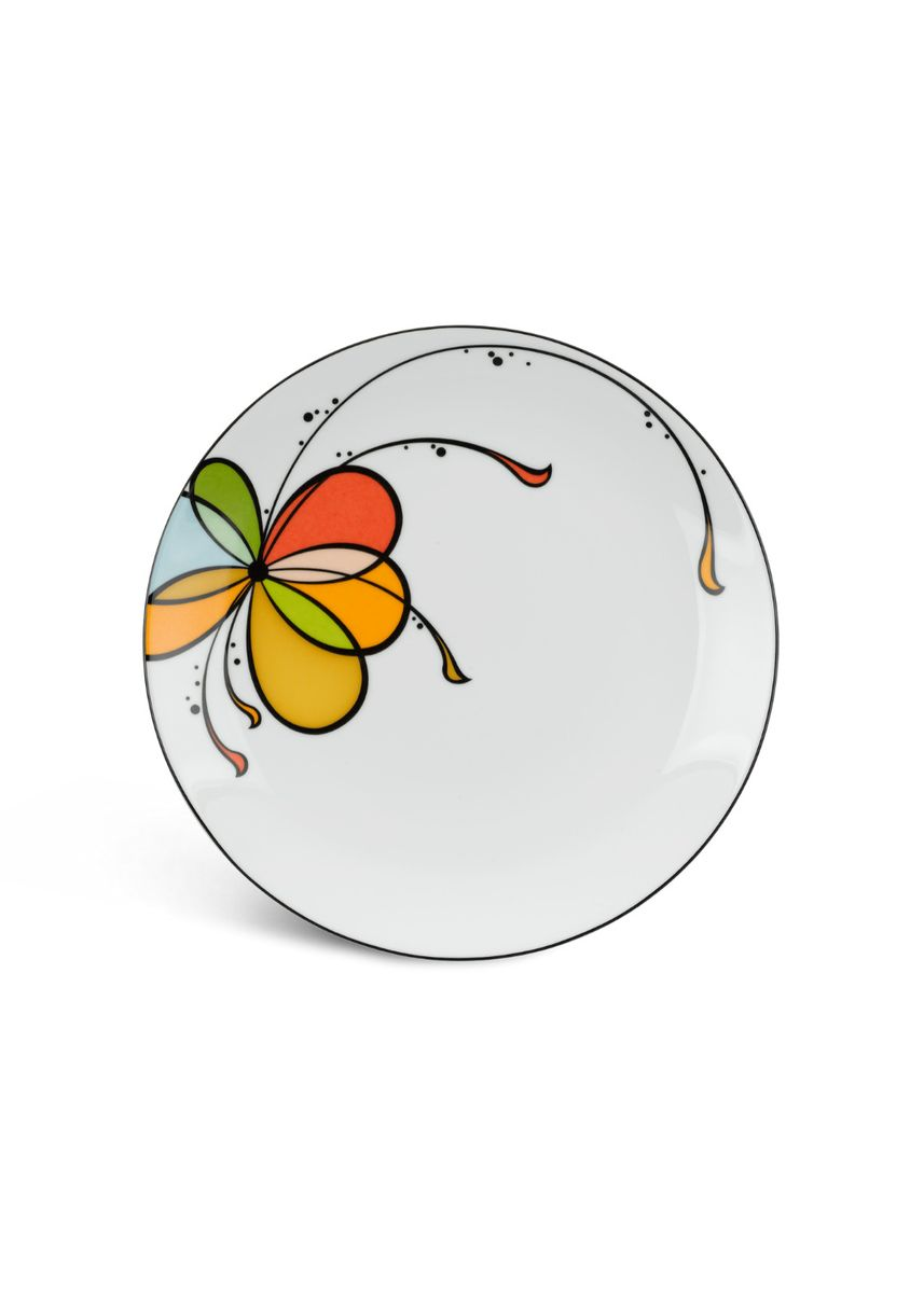 White color Kitchen . Balloon - Flat Round Plate (22cm) -