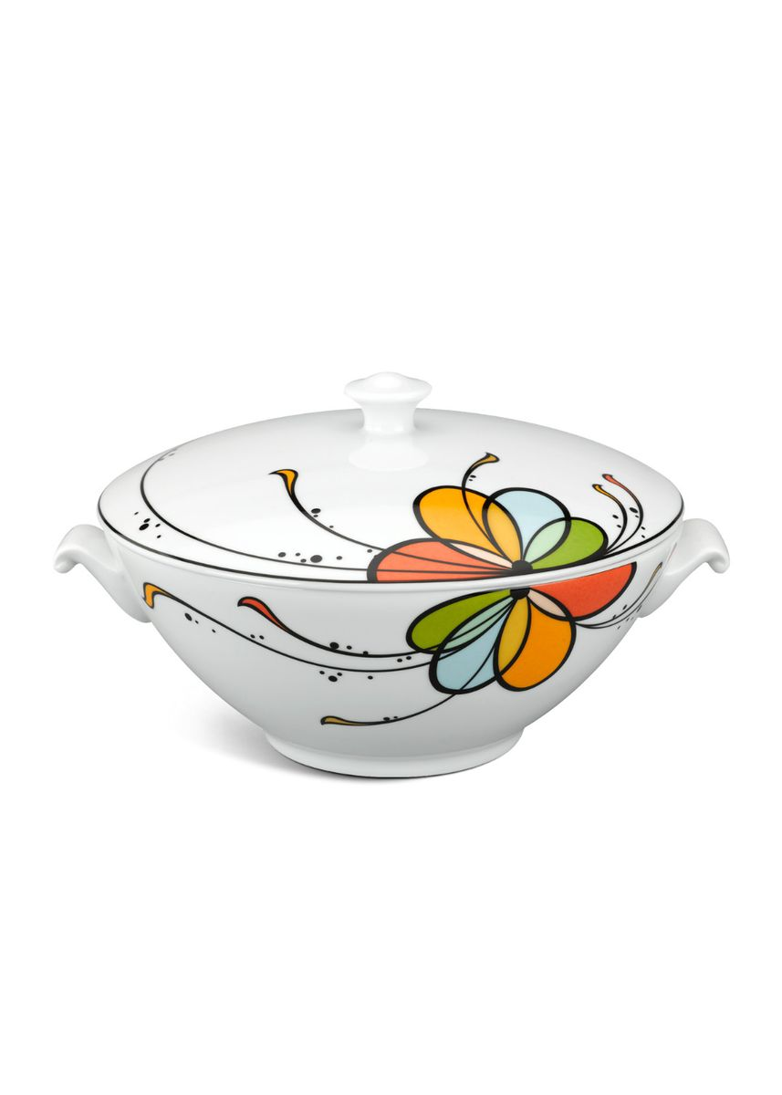 White color Kitchen . Balloon - Soup Tureen + Lid -