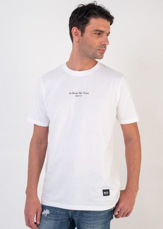 White color T-Shirts and Polos . Moutley Men Tshirt 150720 -