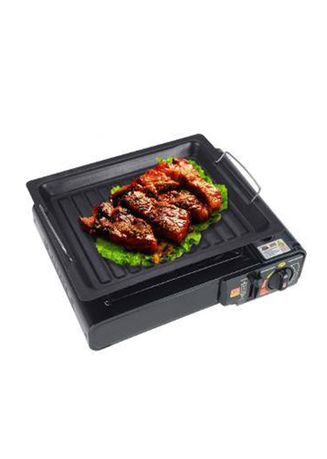 Black color Kitchen . Celina Home Textiles Non-Stick Thick Square Grill Pan Outdoor BBQ (Butane Gas Stove NOT INCLUDED) AS526 -