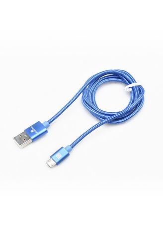 Travel Accessories . Lexingham Micro USB Metallic Blue Cable Sync & Charge -