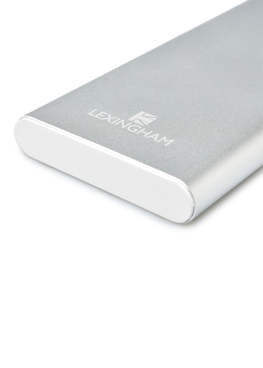 White color Travel Accessories . Lexingham Power Bank 10000 2 Ports PD(18W) + QC3.0 -