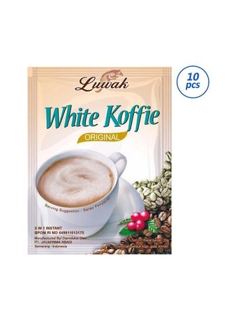 No Color color Coffee . LUWAK WHITE KOFFIE RCG 20X10 -