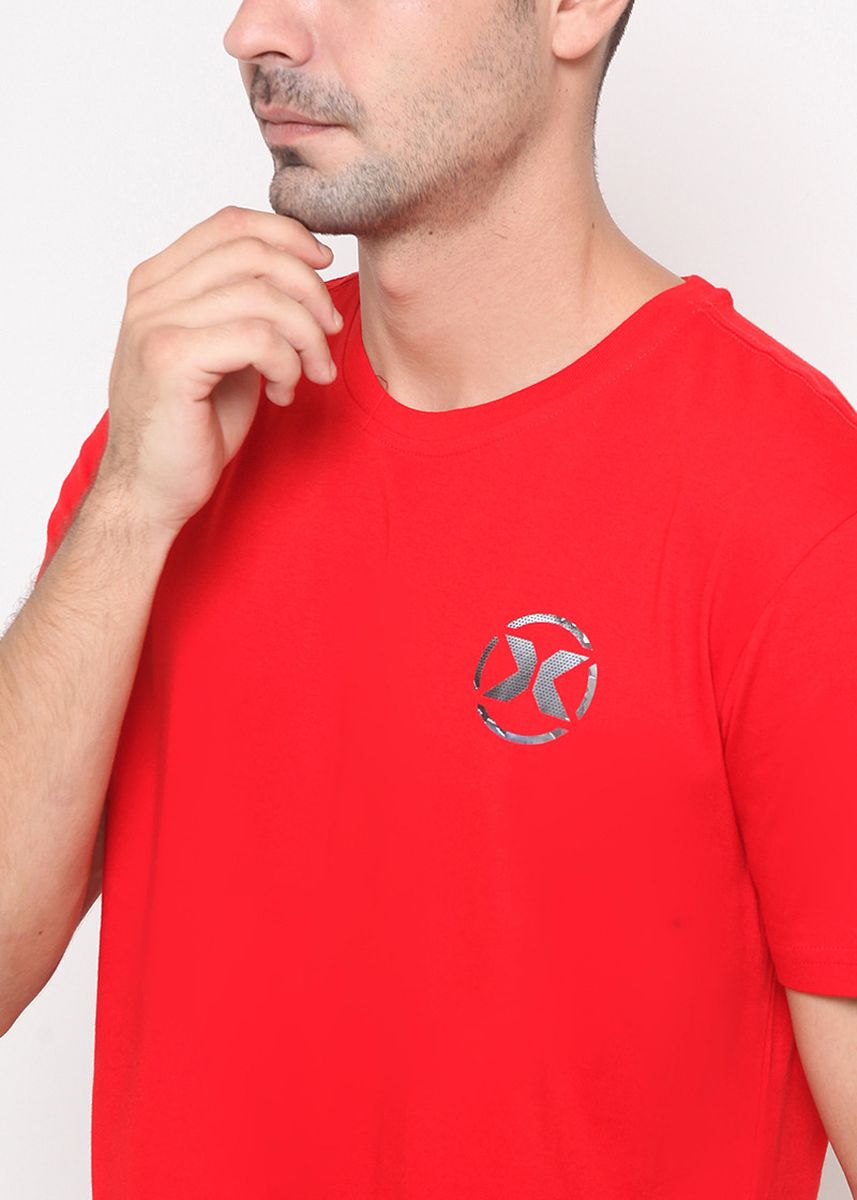 Red color T-Shirts and Polos . XTRAORDINARY Kaos Sablon Polyflex Katun Combed Pria -