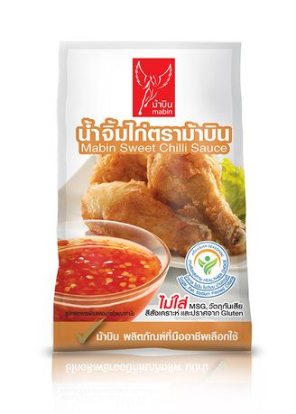 No Color color Other Sauces . [12 ถุง / 1 กล่อง] Mabin น้ำจิ้มไก่ 1000 กรัม -