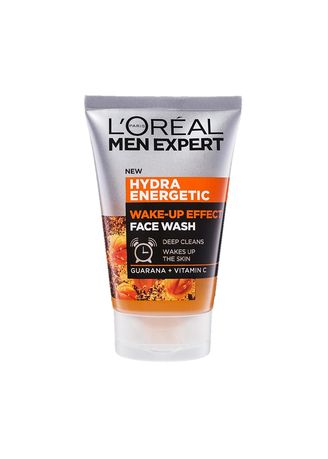 No Color color Skin Care . L'Oreal Men Expert Hydra Energetic Wake Up Effect Face Wash Deep Cleans Wakes Up The Skin Guarana+Vitamin C 100ml.  คลีนซิ่งโฟมทำความสะอาดผิวหน้าผู้ชายสูตรพิเศษ -