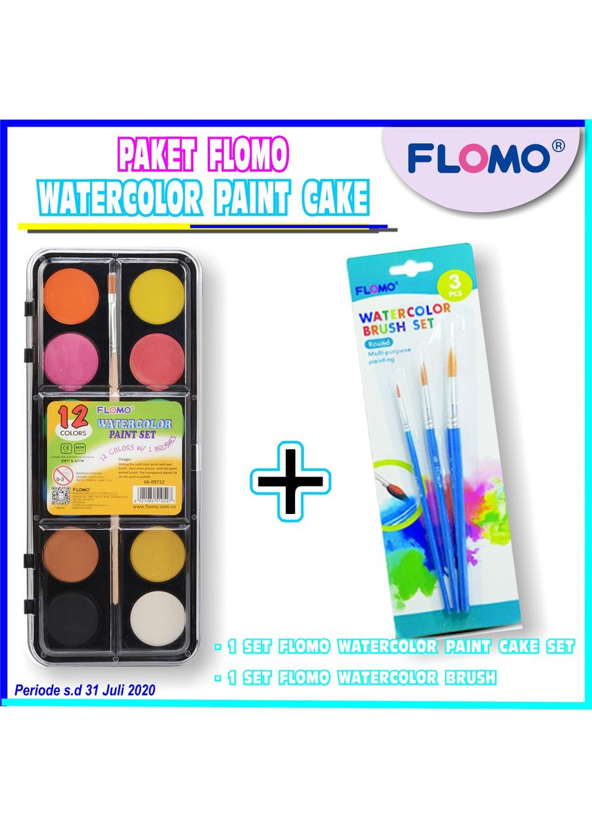 No Color color More Stationery . Paket Watercolor Paint Cake Regular -
